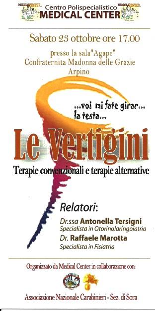 Immagine caricata dall'articolo: Le Vertigini: terapie convenzionali e terapie alternative